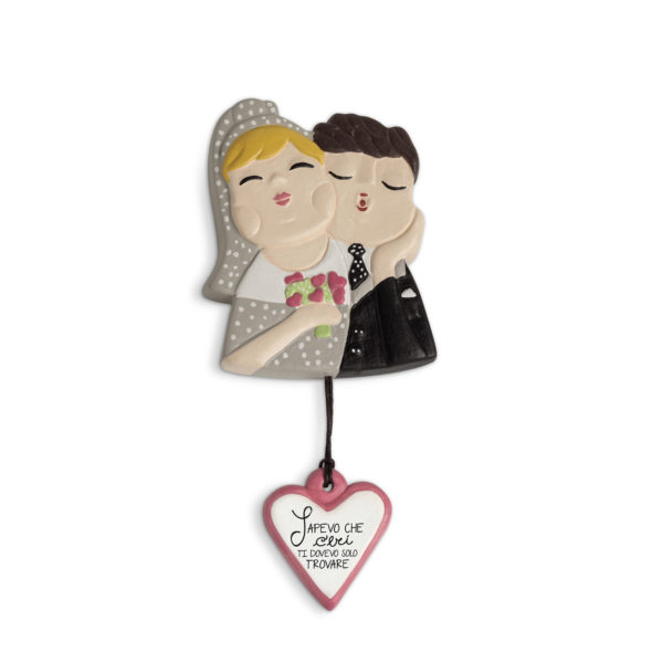 "TILE MAGNET LE CHICCHE ""JUST MARRIED"" 7X9"