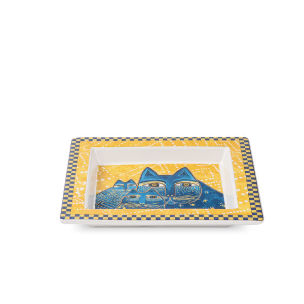 TRAY YELLOW COLOR CM. 18X20