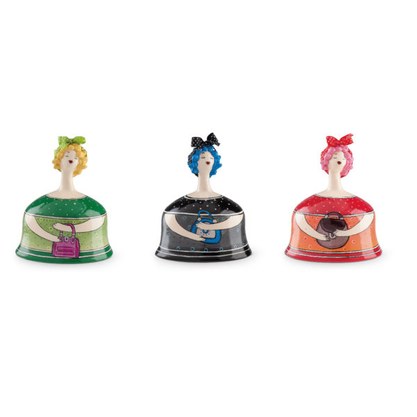 SET 3 MIXED MONEY-BOXES LE PUPAZZE WITH BAG 15X18