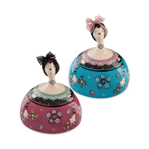 SET 2 JEWELRY BOXES LE PUPAZZE 18X18