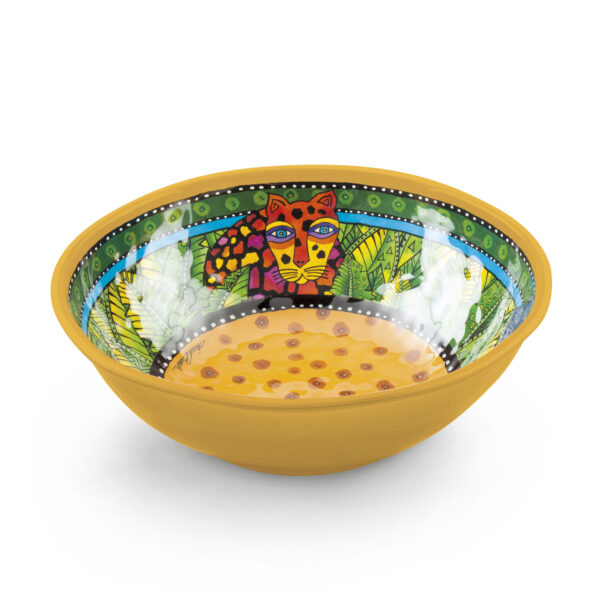 Salad Bowl Laurel Burch Jungle Yellow Ø26