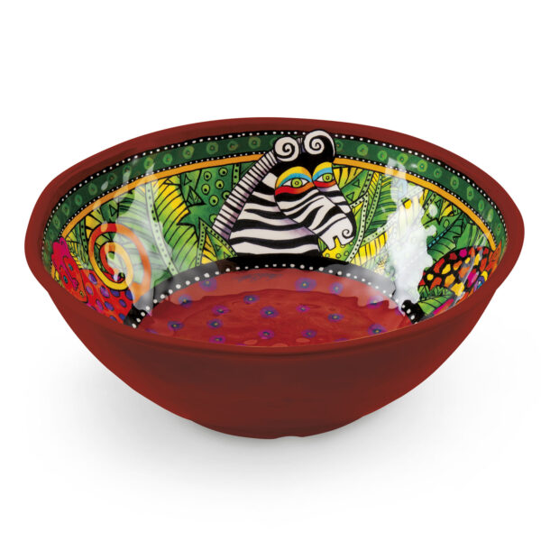 Salad Bowl Laurel Burch Jungle Red Ø31