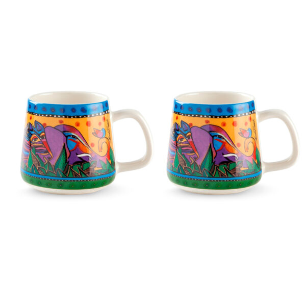Set 2 Mugs Laurel Burch Jungle Yellow