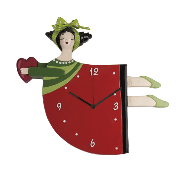 Red Le Pupazze Wall Clock 37X30
