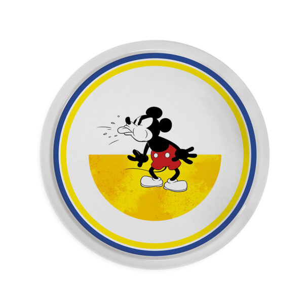 MICKEY I AM D.31 YELLOW PIZZA PLATE