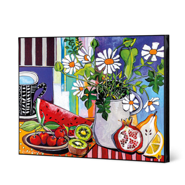 FRUITS AND FLOWER PAINTING 100X80
